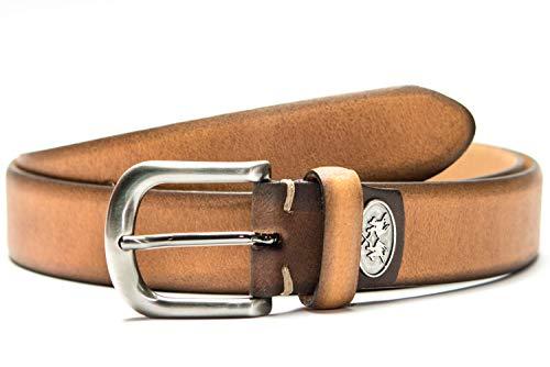 La Martina Cintura per uomo e donna marrone chiaro/marrone 110 cm, marrone chiaro/marrone, vera pelle, fatti a mano, Made in Italy