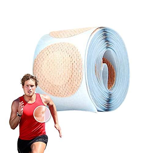 100 Pièces Invisible Respirant Cache-Tétons Hommes Jetable Auto-Adhésive Imperméable 35mm Couverture de Mamelon Prévention des frottements des mamelons...