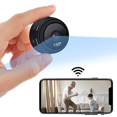 1080P HD Mini Camera with Night Vision and Motion Detection Function, with Audio and Video Real-time Feed, Wireless Wi-Fi with Mobile Applications, with Wireless Wi-Fi Recording Function