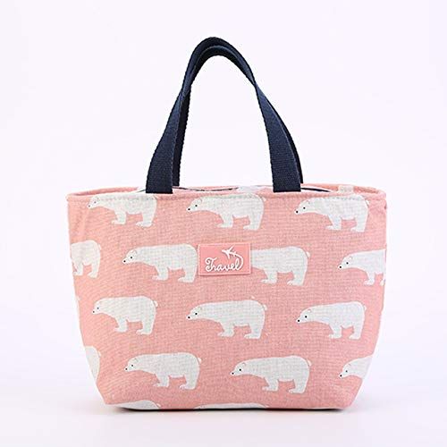 Lunch Bag For Women Funny Cartoon Kids Bento Cooler Bags,Flamingo Thermal Breakfast Food Box Portable Picnic Travel