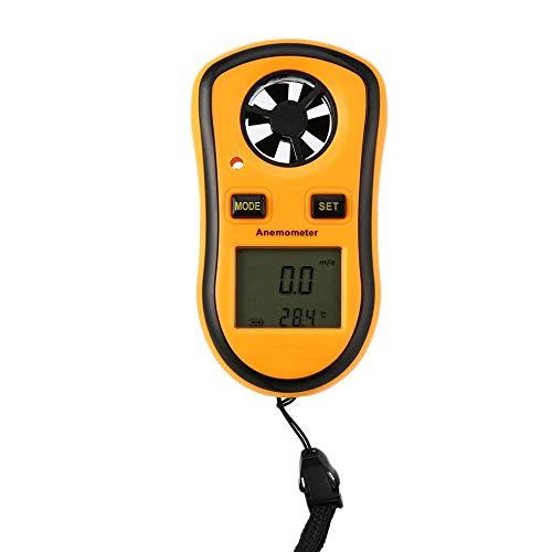 pb+ Anemometer Digitaler Handheld Windmesser Digital LCD Wind Speed Meter Gauge PräZise Messung Der Windgeschwindigkeit,für Wetterdaten und Outdoor-Sport Windsurfen Segeln