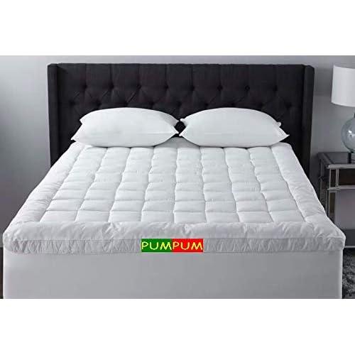 PumPum Hollow Fiber Padding /Topper for 5 Star Hotel Feel (White, 72X78-inch)