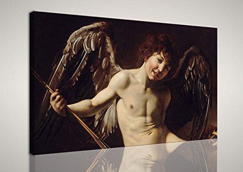 mywalldesign Quadro Moderno Tela Canvas Caravaggio Cupido Amor Vincit Omnia 130x80 CM