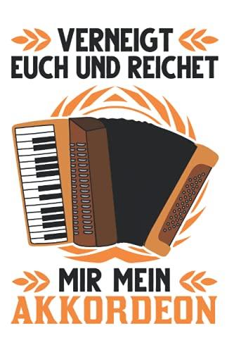 Akkordeonist Notizbuch: Akkordeon Ziehharmonika Akkordeonist Geschenk / 6x9 Zoll / 120 leere Notenblätter Seiten
