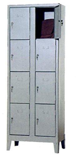 COARME Armadio Metallo Acciaio portaborse 8 vani 69x50x180 cm