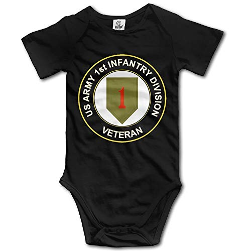 FGRFQ Body Bambino Army 1st Infantry Division Subdued Veteran Baby Girls Clothing Short Sleeves Bodysuits for Unisex