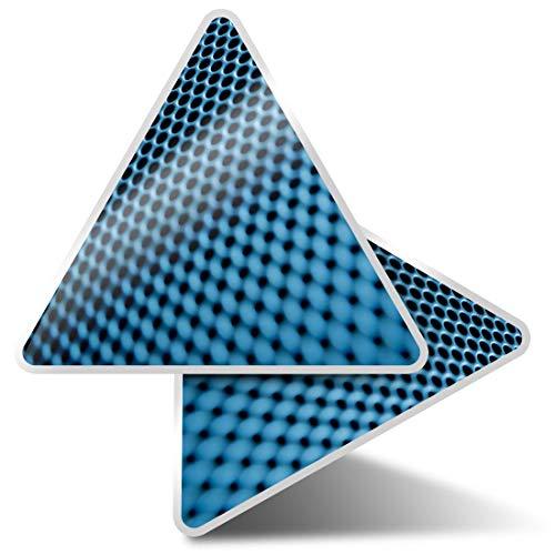 2 pegatinas triangulares de 10 cm – altavoz música macro divertidos calcomanías para ordenadores portátiles, tabletas, equipaje, reserva de chatarra, nevera #2166
