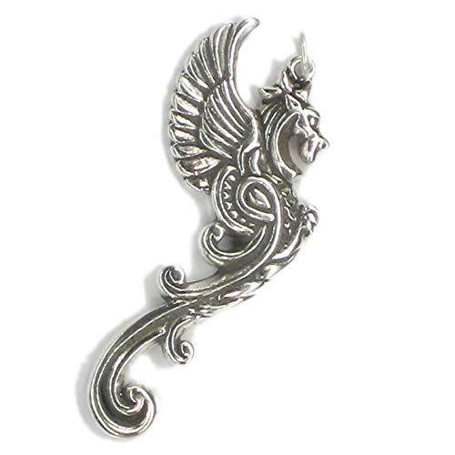 Drache Anhänger sterling Silber 925-1 x Sehr große siehe pix SSLP2689 auf die Aufnahme in die Liste