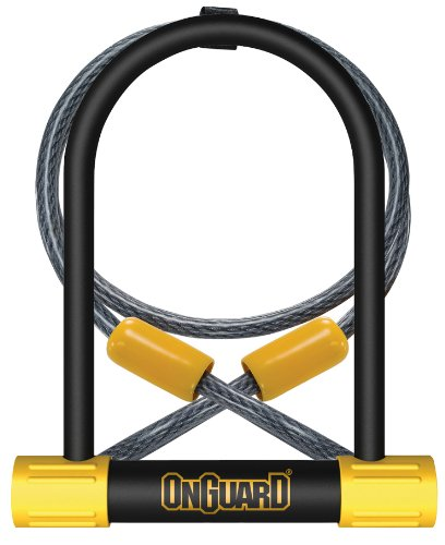 On-Guard 8012 Bulldog Keyed Shackle Lock, Black, 11.5 x 23.0 cm