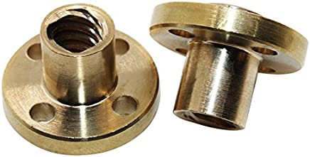 Brass Female 0.375 OD 6-32 Screw Size 2 Length, Pack of 5 Zinc Plated Lyn-Tron