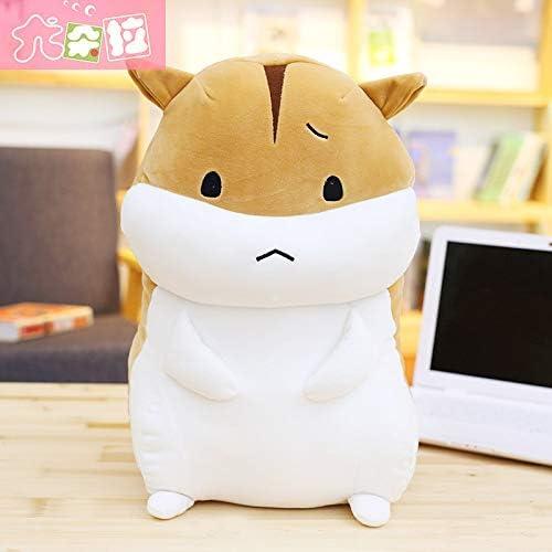 BAOZHEh Hamster Mignon Main Chauffe Oreiller insérer poupée poupée Corée Cadeau en Peluche Mignon, Bcourir sans défense, 60 cm