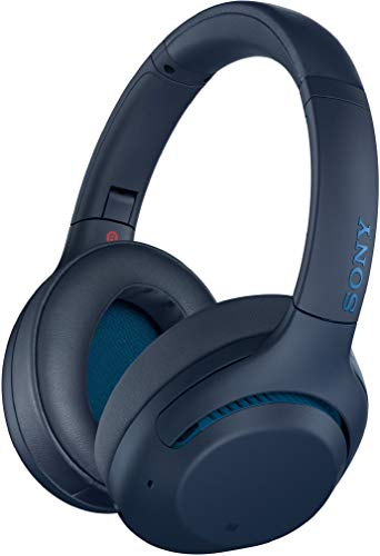 Sony WH-XB900N Wireless Bluetooth Noise Cancelling Extra Bass Over The Ear Headphones with Mic, 30 Hours Battery Life, Alexa Voice Control and Touch Control and Quick Attention Mode – Blue
