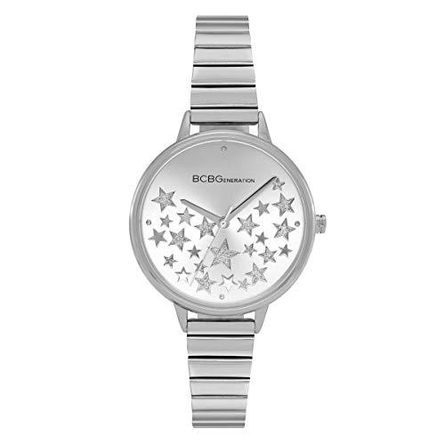 BCBGeneration Ladies 3 Hands Slim Silver Mesh Watch -  GN50726006