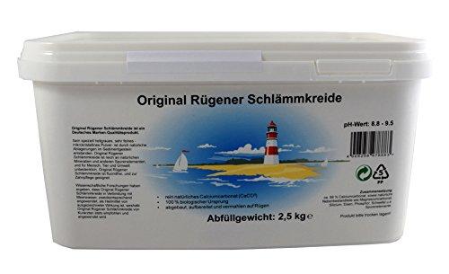 Original Rügener Schlämmkreide / 2,5 Kg Calciumcarbonat/reines und allergenfreies Naturprodukt