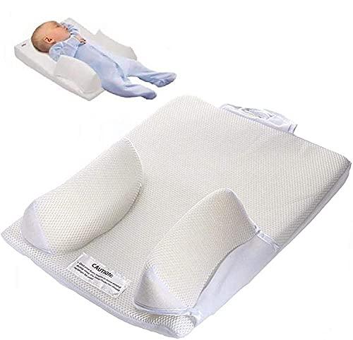 MNNE Cojín para Dormir del bebé Almohada para Dormir/Almohada Anti-vuelco Anti-escupir Leche/Cama Lavable