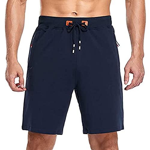 NXWL Bermudas Hombre Verano,Hombre Pantalones Cortos de Playa Beach Shorts,Azul,40