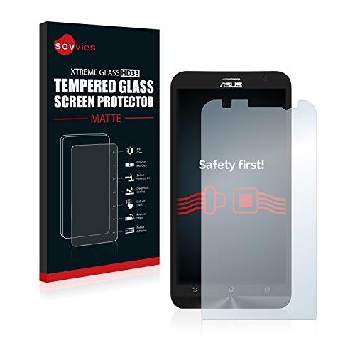 savvies Vetro Temperato Opaco Compatibile con ASUS ZenFone 2 ZE551ML Pellicola Prottetiva Vetro - Durezza 9H, Antiriflesso