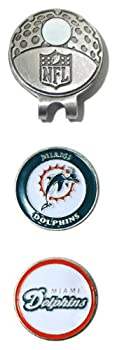 Team Golf 31547 NFL Miami Dolphins Golf Cap Clip with 2 Removable Double-Sided Enamel Magnetic Ball Markers Attaches Easily to Hats