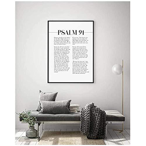 Psalm 91 Schrift Wand Bilder, Wer Im Tierheim Wohnt, Bibel Vers Gemäldewerk FüR Ihre Christliche Wohnkultur Rahmenlos RT-L114
