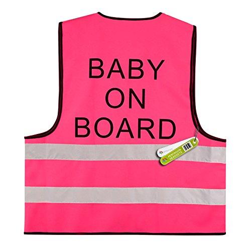2 x BABY OP BOARD - HOGE VISIBILITEIT VEST HI-VIS (BS EN 471 BRITISH STANDARD) PENTAGON