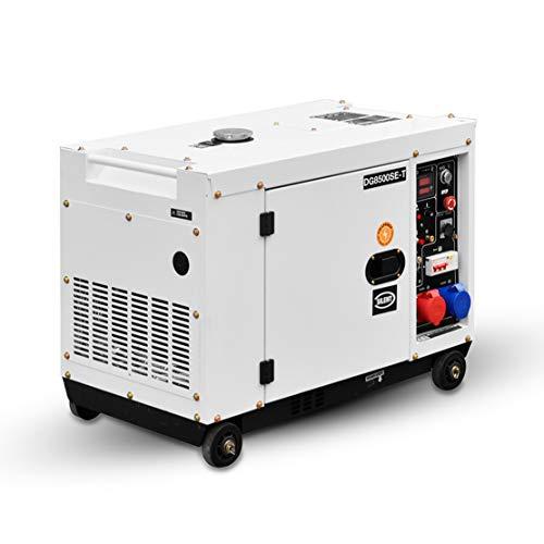 HIOD Grupo Electrógeno de Emergencia 8500W, 6.9kva-7.9kva, 230v / 400V, 6 Fases Suministro Diesel