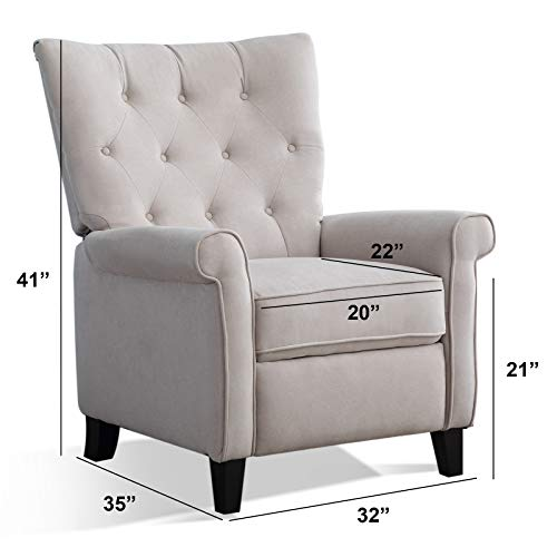ANJ-Recliner-Elizabeth-Accent-Chair-for-Living-Room-Easy-to-Push-Mechanism-Single-Chair-with-Roll-Arm-Elegant