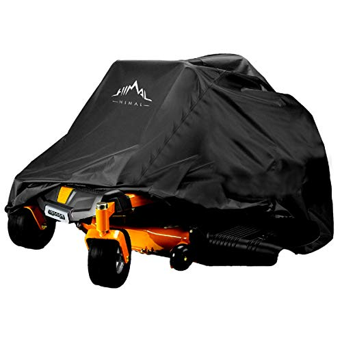 """Himal Outdoors Zero-Turn Mower Cover, Heavy Duty 600D Polyester Oxford, UV Protection Universal Fit with Drawstring & Cover Storage Bag, Tractor Cover Up to 60"""" Decks"""