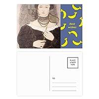 ブラック・マスク美人中国絵画 バナナのポストカードセットサンクスカード郵送側20個
