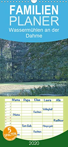 Wassermühlen an der Dahme - Familienplaner hoch (Wandkalender 2020 , 21 cm x 45 cm, hoch): Die Dahme, da wo sie noch ganz klein ist und die Reste der ... (Monatskalender, 14 Seiten ) (CALVENDO Natur)