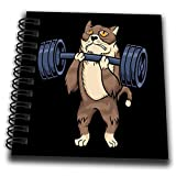 3dRose Funny Cat with Weightlifting for Gym and Bodybuilder Lovers - Drawing Books (db_333575_3)