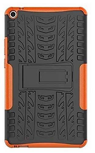 ZRH Accesorios de pestañas para Huawei MediaPad T3 8.0 T3-8 KOB-L09 KOB-W09, Silicone TPU + PC Funda de Tableta de Tapa de Stands a Prueba de Golpes para Huawei MediaPAD T3 8.0 (Color : Orange)