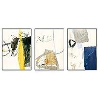 装飾画のアートワーク リビングルームのソファの背景壁の装飾絵画壁アート画像の装飾抽象テクスチャアート絵画 装飾写真絵画 (Color : A, Size : L)