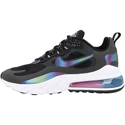 Nike Herren Air Max 270 React Laufschuh, Schwarz Dark Smoke Grey Black White Multi Colour, 42 EU