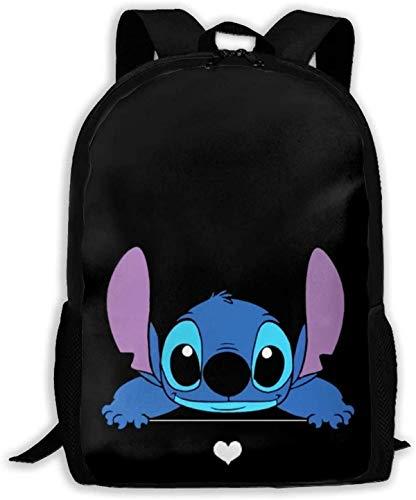 Stitch Conformidad, mochila ergonómica, correa de hombro ajustable, holgada y cómoda, mochila infantil unisex (Stitch 6, clases 1-6)