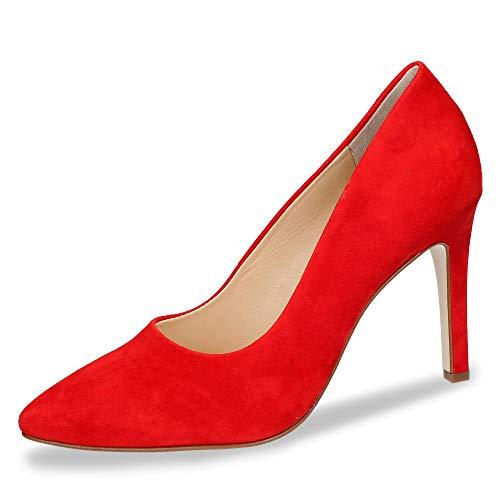 Paul Green 3591-024 Damen klassischer Pumps aus Veloursleder Lederausstattung, Groesse 41, rot