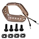 Tbest Rail Mount Helmet Kit, Helmet Side Rail Guide, Tactical Military Combat Helmet Side Rails with Lanyard Mounting Screws Accessories 3 Colors to Choose