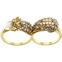 Swarovski March 23K Gold-Plated Crystal Women's Ring