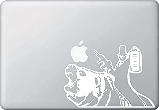 Abraham Lincoln Riding a Bear - Macbook or Laptop Decal (7.5