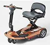 EV Rider Transport Move Manual Folding Scooter - Lithium Battery Lightweight Travel Mobility Scooter (Copper)