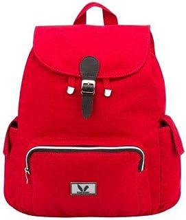Mochila Feminina Escolar Infantil ou Adulto em Sarja Vermelha