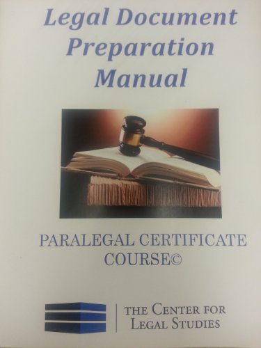 Price comparison product image Legal Document Preparation Manual