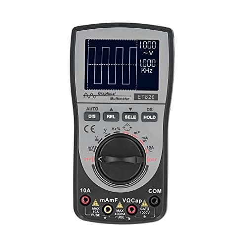 Medidor De Voltaje, Multímetro Digital 2 En 1 Rango Automático Con Pantalla De Forma De Onda De Osciloscopio Para Fábricas Para Laboratorios Para Familias