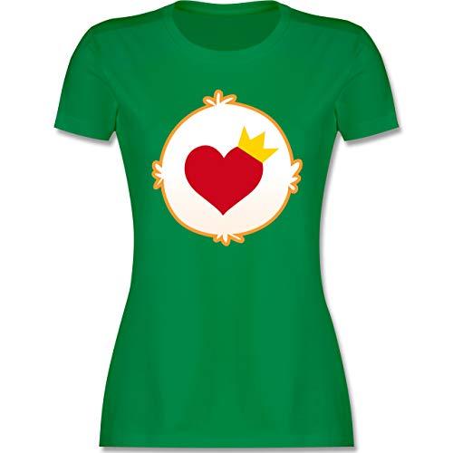 Shirtracer Karneval & Fasching - Cartoon-Bärchis Krone - XL - Grün glücksbärchi - L191 - Tailliertes Tshirt für Damen und Frauen T-Shirt