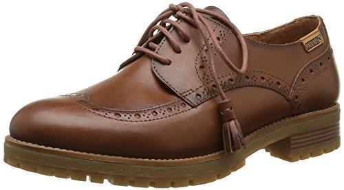 PikolinosSANTANDER W4J_I16 - Zapatos Planos con Cordones Mujer , color Marrón, talla 38