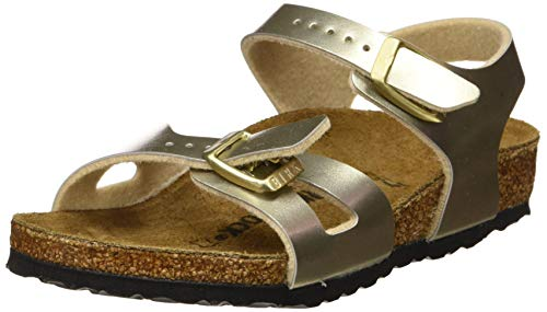 Birkenstock Rio, Sandales Bride cheville Filles, Or (Soft Metallic Gold Soft Metallic Gold), 24 EU