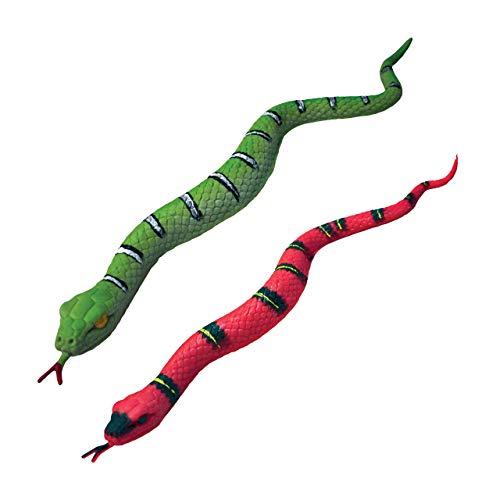 Rep Pals - Serpiente, Juguetes elásticos de Deluxebase. Réplicas de Animales súper elásticos Que parecen Reales. Ideales para niños y niñas