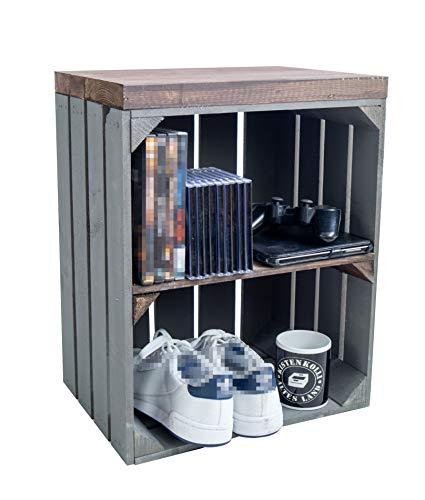 Baúl con asiento, mesa de almacenamiento, caja de fruta Johanna y tablas de...