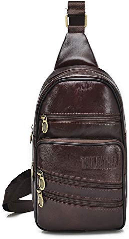 Chest Bag Bag Bag Home Herren Brusttasche Multifunktions Outdoor Sports Umhängetasche Mode Schulter Messenger Rucksack (braun) B07L9KWXCF  Diversifiziertes neues Design 15dd7f