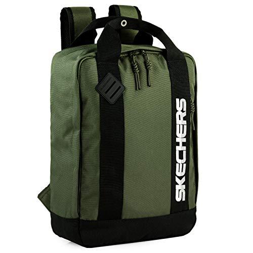 SKECHERS - Casual Rucksack Unisex Laptop Fach innen. Perfekt für den täglichen Gebrauch. Praktischer, komfortabler und vielseitiger S992, Color Khaki-Grün