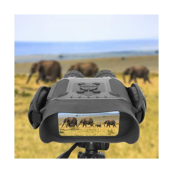 Night Vision Binoculars, Digital Infrared Hunting Binocular Scope 7X Magnification IR Camera with Video Recorder Function Day and Night for Wildlife